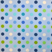 Jersey, pamuk, točke, 18653-003, plavo-zelena