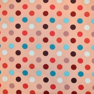Jersey, pamuk, točke, 18653-013, ružičasto-crvena