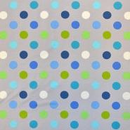 Jersey, pamuk, točke, 18653-061, sivo-plava
