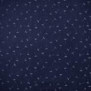 Tetra tkanina, dvojna, narava, 18657-008, temno modra