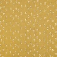 Tetra tkanina, dvojna, mladinski, 18658-034, rumena