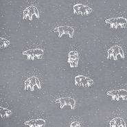 Prevešanka, kosmatena, živalski, 18585-001, siva