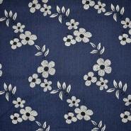 Jeans, prožen, cvetlični, 13058-008