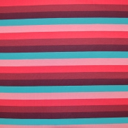 Jersey, pamuk, crte, 18238-015, ružičasto-crvena