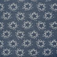 Triko materijal, zvijezde, 18597-3003, plava