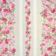Deko, tisk, cvetlični, 18672-01