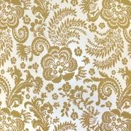 Čipka, elastična, 18697-571, rumena