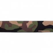 Elastika, 40 mm, kamuflažni, 16515-43755, zelena