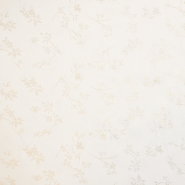 Šifon krep, poliester, cvetlični, 18706-021, bela
