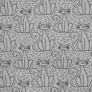 Prevešanka, živalski, 18733-62351, siva