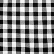 Flanela, karo, 18747-002, črno bela