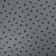 Tetra tkanina, dvostruka, brojevi, 18660-063, siva