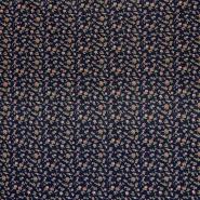 Jersey, viskoza, cvetlični, 18763-008, modra