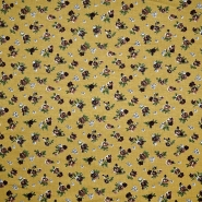 Jersey, viskoza, cvetlični, 18763-053, rumena