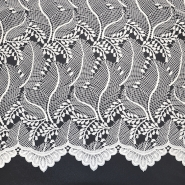 Čipka, cvetlični, 18774-2, smetana