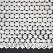 Čipka, cvetlični, 18775-1, bela