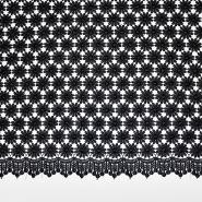 Čipka, cvetlični, 18775-3, črna
