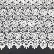 Čipka, cvetlični, 18777-1, bela