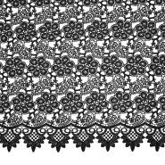Čipka, cvetlični, 18777-3, črna