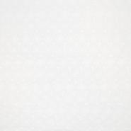 Bombaž, rišelje, cvetlični, 18779, bela