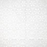 Bombaž, rišelje, cvetlični, 18785, bela