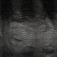 Umetno usnje Crocodile, 18790-1, črna
