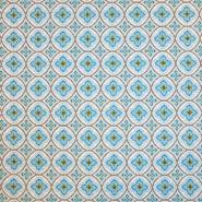 Deko žakard, retro, 18791-3, modra