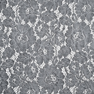 Čipka, cvetlični, 18756-069, siva