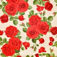 Bombaž, poplin, cvetlični, 17663-28