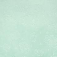 Velours, Coral, beidseitig, tierisch, 18853-3, mintblau