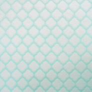 Velours, Coral, geometrisch, 18859-2, mintblau