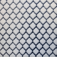 Velours, Coral, geometrisch, 18859-7, blau