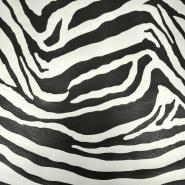 Umetno usnje, Zebra, 18866-090, črna-off bela