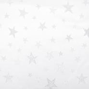 Deko žakard, praznični, 18880-01, srebrna