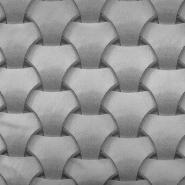 Deko žakard, geometrijski, 18881-90, srebrna