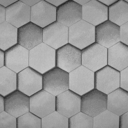 Deko žakard, geometrijski, 18883-90, srebrna