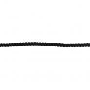 Vrvica, bombaž, 7 mm, 18937-002, črna
