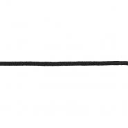 Nit, pletena, 6 mm, 18987-002, crna