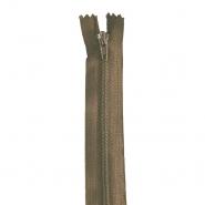 Reißverschluss, spiralig, 20cm, 4mm, 18303-702, braun
