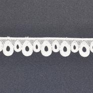 Čipka, 24mm, 18941-001, off bela