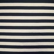 Jersey, Baumwolle, Streifen, 18947-105, blau-weiß