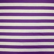 Jersey, bombaž, črte, 18947-106, vijola bela