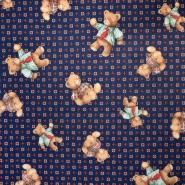 Flanela, bombaž, otroški, 18947-109, modra