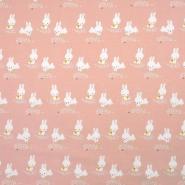 Jersey, bombaž, živalski, 18970-002, roza