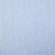 Bombaž, poplin, črte, 18995-1, modra