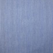 Pamuk, popelin, crte, 18995-4, plava