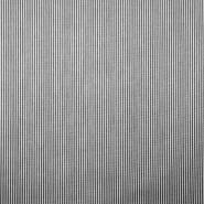 Bombaž, poplin, črte, 18995-5, črna