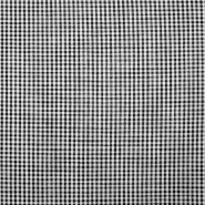 Bombaž, poplin, karo, 18996-2, črna
