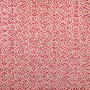 Pletivo, čipka, 18992-3, roza bela