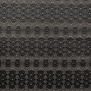 Pletivo, čipka, 18992-5, crno-bež